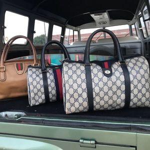 Gucci Vintage Boston Web Ophelia Bag